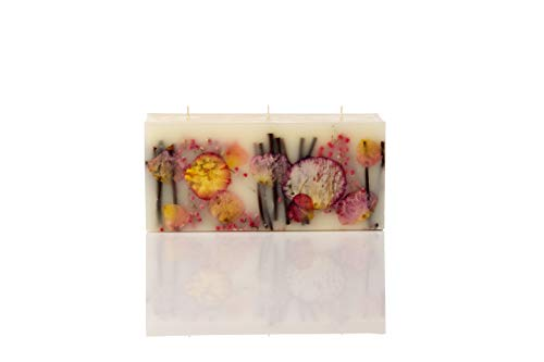 (Rosy Rings Brick Botanical Candle - Apricot Rose)
