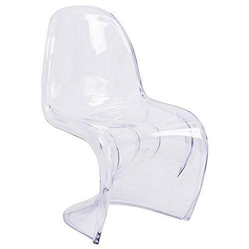 Flash Furniture Mystique Series Transparent Stacking Side Chair