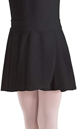 Aislor Big Girls Circular Pull-On Wrap Skirts Classic Chiffon Mini Skirt with Tie Waist