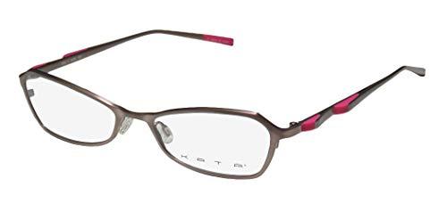Kata Peel 1 Womens/Ladies Rx Ready Prestigious Designer Designer Full-rim Titanium Eyeglasses/Eyeglass Frame (50-17-135, Rose / Pink)