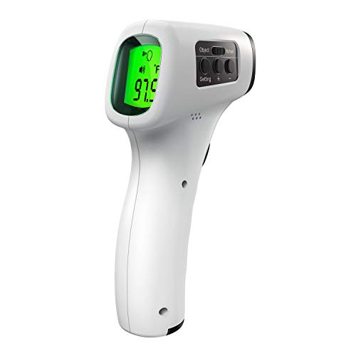 Non-Contact Infrared Thermometer with CE, ROHS, Fever Alarm, LCD Display Instant Reading, 30sets Memory Function…