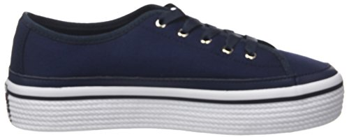 Tommy Hilfiger Damen Aziendale Flatform Sneaker Blau (tommy Navy 406)