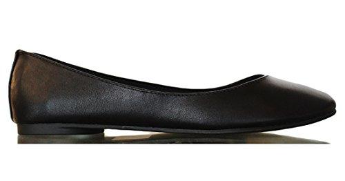 Soda KREME Women's Comfort Round Toe Cushioned Gel Memory Foam Ballerina Flat Mve Shoes soda shoes kreme Black size 10 (Flat Soda compare prices)