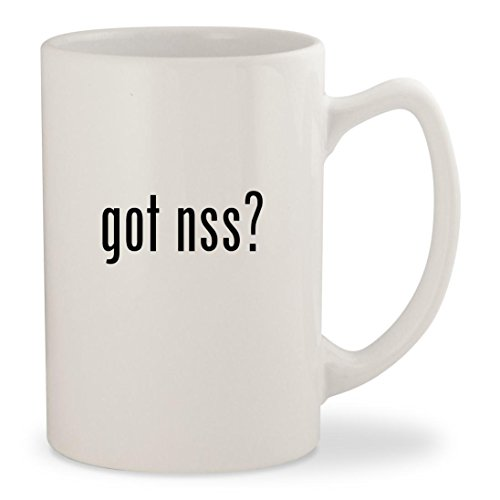 got nss? - White 14oz Ceramic Statesman Coffee Mug Cup Nss Shoes