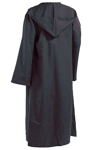 GOLDSTITCH Men Hooded Robe Cloak Knight Fancy Cool Cosplay Costume L, Gray(cloak) -
