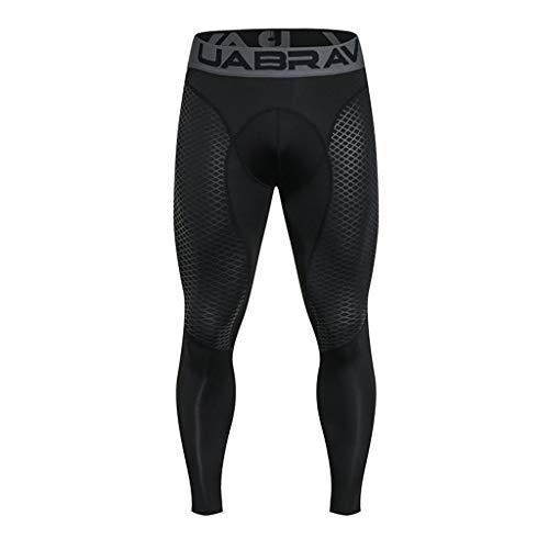 Creazrise Men's Compression Pants Baselayer Cool Dry Sports Tights Leggings Running Tights (Gray,XL) ()