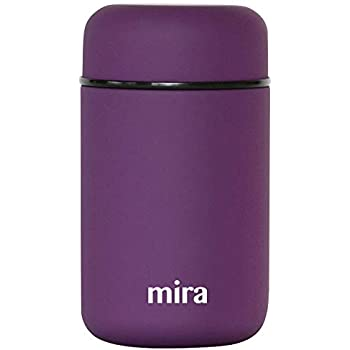 MIRA Lunch, Food Jar | Vacuum Insulated Stainless Steel Lunch Thermos | 13.5 oz | Purple