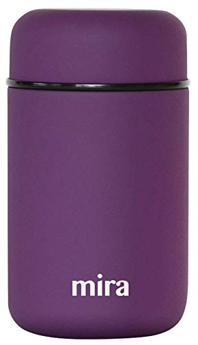 MIRA Lunch, Food Jar | Vacuum Insulated Stainless Steel Lunch Thermos | 13.5 oz | Purple ()