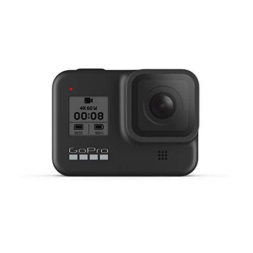 GoPro HERO8 Black - Waterproof Action Camera with Touch Screen 4K Ultra HD Video 12MP Photos 1080p Live Streaming Stabilization