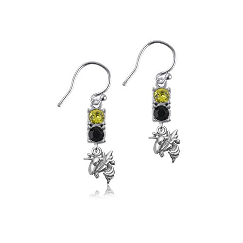 - Georgia Tech University Yellow Jackets Sterling Silver Jewelry by Dayna Designs (Crystal Earrings)