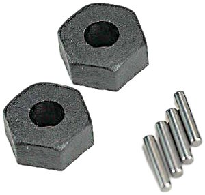 Traxxas 1654 Wheel Hubs with Axle Pins (Stub Axle Pins)