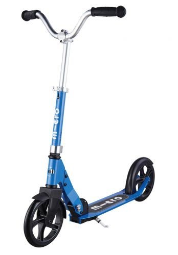 Micro Cruiser | Big-Wheeled, Low-Ride, 2-Wheeled Foldable Micro Scooter for Kids and Teens | Ages 8 and up | Blue