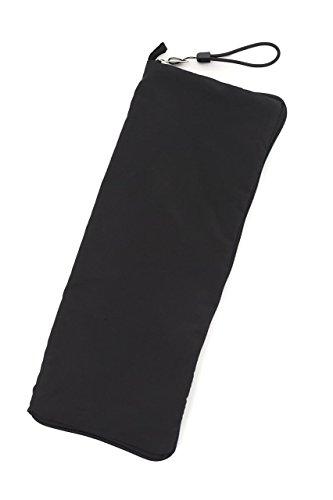 접는산 용흡수산대 테플론 가공 수납 경량 간단 편리 통근 통학 롱 블랙 휴대용 32cm×13cm
