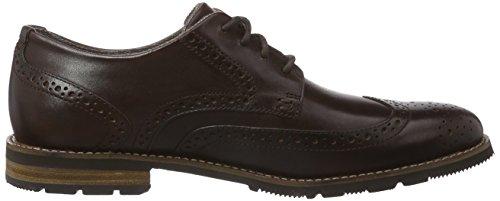 RockportLH2 WING OXFORD - Zapatos de Vestir Hombre Marrón - Braun (DK BROWN)