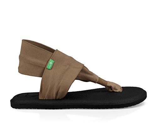 (Sanuk Women's Yoga Sling 2  Sandal, Petrified Oak, 5)