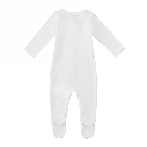 Owlivia Baby Organic Cotton Zip-Up Sleep N Play (6-12 Months, White)
