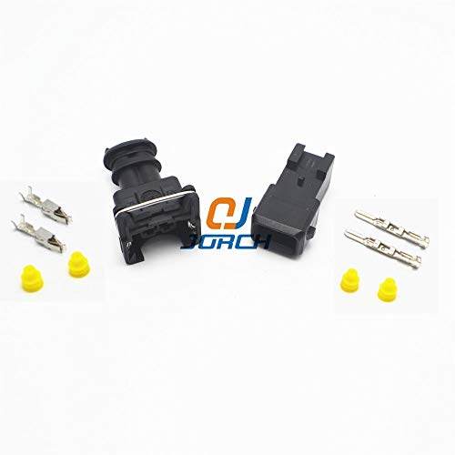 Davitu 10 sets 2 Pin way EV1 Fuel Injector Plug Car Waterproof Tyco Electrical Wire Connector kits 282762-1 282762-7 - (Package: 10 -