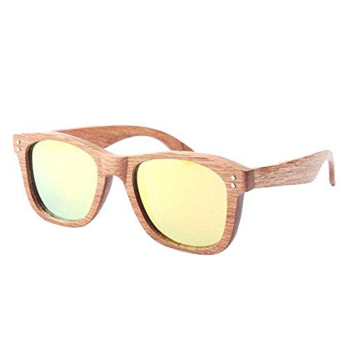9 G Chengxiaoxuan Color De Retro Gafas Bambú Sol Polarizada q8T6P8nr0