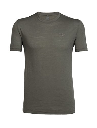 Icebreaker Merino Men's Tech Lite Short Sleeve Crewe T-Shirt, Kona/Kona, Medium