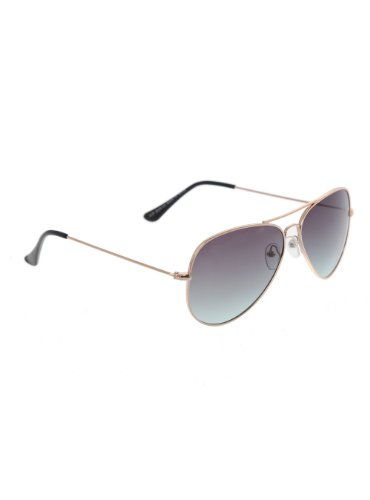 Brass Blue Lens Aviator - Hot Sunglasses Topic