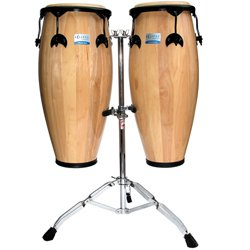 10' Conga (Natural Conga Set, 10'' and 11'', w/Cradle Stand)
