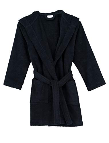 TowelSelections Big Girls' Robe, Kids Hooded Cotton Terry Bathrobe Cover-up Size 8 Salute