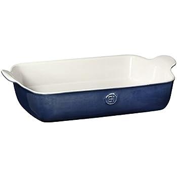 """Emile Henry Made In France HR Modern Classics Large Rectangular Baker, 13 x 9"""", Blue"""