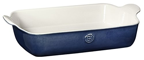 Emile Henry Made In France HR Modern Classics Large Rectangular Baker, 13 x 9', Blue