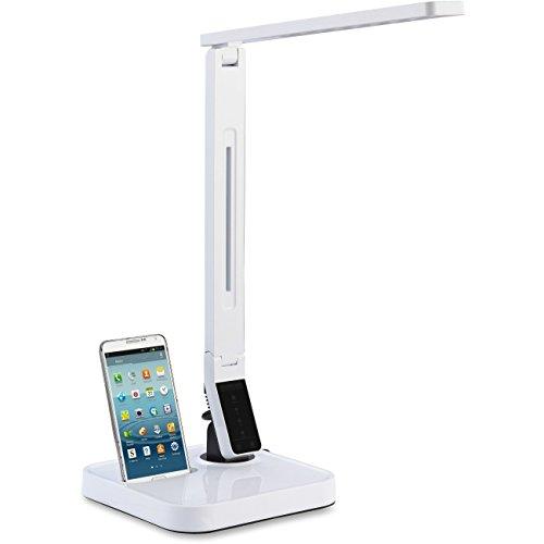 Lorell LED Desk Lamp in White -