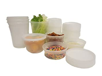 Plastic Round Microwave Freezer Safe Leakproof Food Containers And Lids Commercial Kitchen Equipment