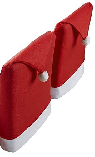 Santa's Table Dé corations pour table de Noë l, 100 % polyester/polyester, rouge/blanc, Lot de 2 housses de dossiers de chaise 100% polyester/polyester 4 Your Home Limited