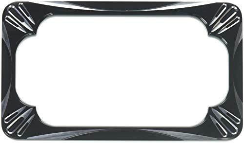 Arlen Ness 12-159 Black License Plate Frame (Lighted Billet License Plate Frame)