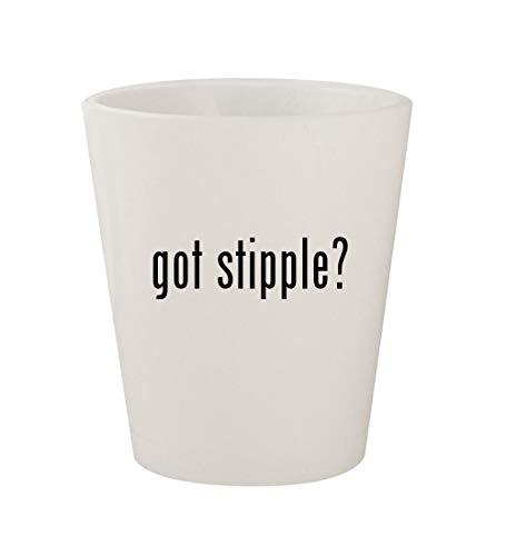 (got stipple? - Ceramic White 1.5oz Shot Glass)