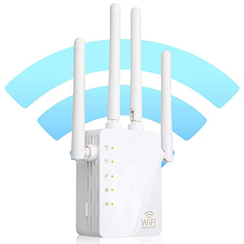 WiFi Range Extender, Wsiiroon Up to 1200Mbps   2.4GHz and 5.8GHz Dual Band WiFi Repeater Wireless Signal Booster, 360 Degree Full Coverage Network, Extend WiFi Signal to Smart Home & Alexa Devices