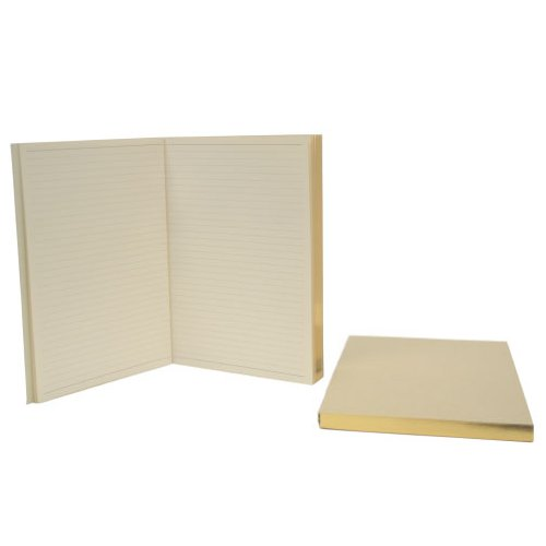 Royce Leather, Refill Pack of 2, Gold-Gilded Edge, Lined Journal (Gold Edge Refill)
