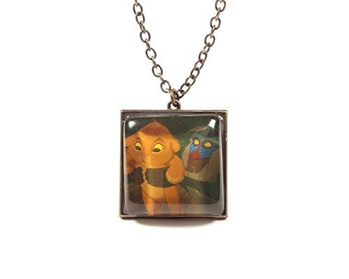 [Disney The Lion King Simba And Rafiki Necklace] (Disney Nala Costume)