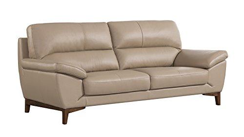 - American Eagle Furniture EK080-TAN-SF Ashford Collection Leather Upholstered Sofa, Tan