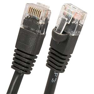 1Ft Cat.5E Molded Snagless Patch Cable Black