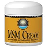 Source Naturals MSM Cream, 4 Ounce (Pack of 2)
