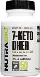 NutraBio 7-KETO DHEA 50mg - 60 capsules végétales