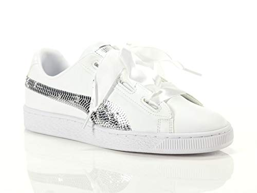 9b47d30b4b944 Puma Basket Heart Bling Jr