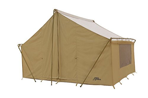 Trek Tents 246C Cotton Canvas Cabin Tent, 10 x 14-Feet, Beige