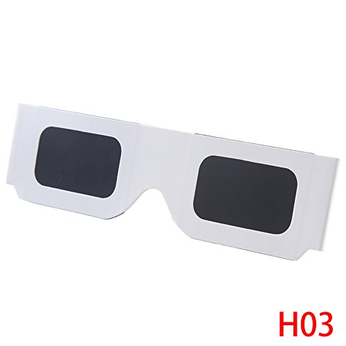 Price comparison product image Suiez Solar Eclipse Glasses CE and ISO Certified Shades for Direct Sun Viewing Viewer & Filter 10pcs H03