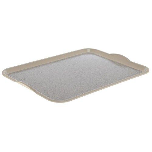 Cambro Versa Camtray Ivory Fiberglass Nonskid Tray with Handles - 20