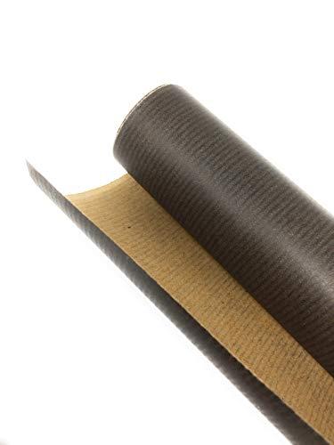Black Kraft No. 1 • Plain Black Kraft Wrapping Paper Roll • 3m • 100% Recycled •