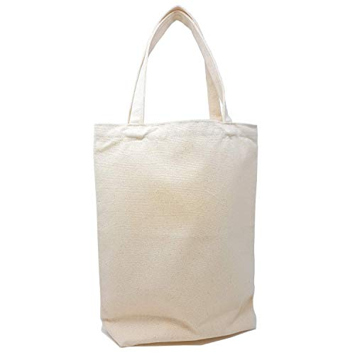 Heavy Duty and Durable 12oz Canvas Tote Bag with Handles | Blank Craft Tote Bags for DIY Decorate | 100% Natural Cotton Reusable Grocery Washable Beach Shopping Bag | 15x13x4 Inch | by GIDABRAND (1)
