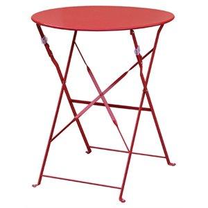Commercial Trottoir en acier rouge Table 595 mm - Cafe Restaurant ...