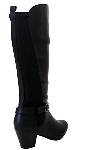 Genou Dames Les Pull Noir Stretch Zip Up Tailles Uk Élastiquée 3 Sur Haut Femmes De Bottes Pu Pour Chaussures Mode D'équitation 8 vw5nqaxEFX