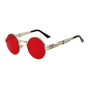 Best Annie Luxury Metal Sunglasses Men Round Sunglass Steampunk Coating Glasses Vintage Retro Lentes Oculos of Male Sun