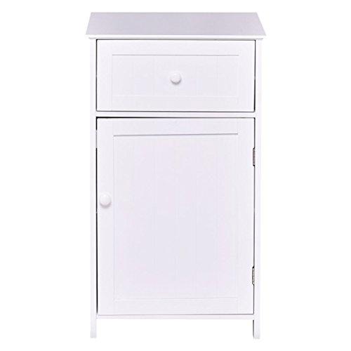 Tangkula Bathroom Floor Storage Cabinet, Home Living Room